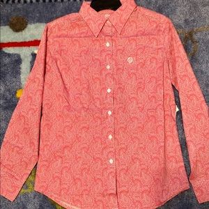 Pink Paisley Button Down